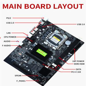 X58 اللوحة الأم جودة عالية LGA 1366 دبوس وحدة المعالجة المركزية إنتل مع USB2.0 SATA2.0 اللوحة الساخن بيع
