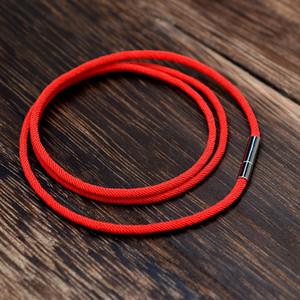 Moda klasik çok katmanlı Halat siyah bilezik Kırmızı Iplik hattı Takı Kırmızı dize bilezik için kadın erkek şanslı Braclet