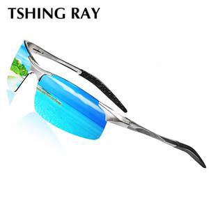 Venda Por Atacado alumínio magnésio homens óculos polarizados óculos de sol para a condução de pesca dos homens óculos de revestimento de esportes óculos sem aro
