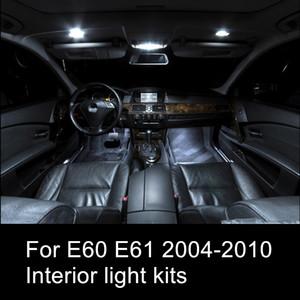 Shinman 17pcs free shipping error free LED الداخلية الخفيفة كيت لسيارات BMW 5 series E60 E61 2004-2010 الداخلية السيارة