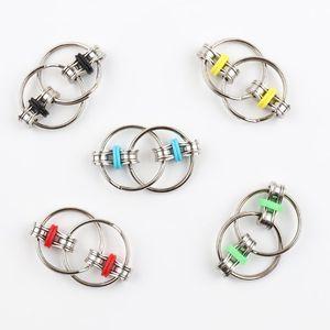 Fidget Spinner Key Ring Metal Gyro Toys Professional EDC Stress Release Toy for Kids VS Hand Spinner Fidget Chain Spinner Toy