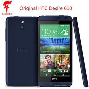 """2018 vendita calda HTC Desire 610 telefono cellulare originale 4.7 """"Qual Core 1 GB di RAM 8 GB ROM GPS WIFI 4G Android rinnovato telefono cellulare 5 pz libera la nave"""