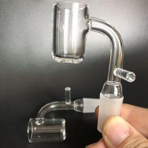 14 millimetri di quarzo enail domeless unghie in forma 16mm 20mm bobina con maschio femmina 90 gradi quart banger nail fit olio piattaforme rig bong