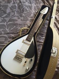 Tienda personalizada Hutchins Brian Jones lágrimas de lágrima Signature Vintage Blanco Guitarra eléctrica Super Raras Scale Scale Guitarra de viaje