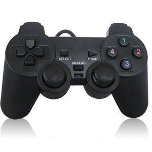 Shock Vibration USB Проводной Игровой Контроллер Gaming Joypad Gamepad Джойстик Управления для ПК Портативный Компьютер Геймер Черный Высокое Качество БЫСТРЫЙ КОРАБЛЬ