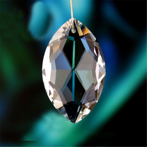 50pcs lot 38mm Crystal Marquis Clear Suncatcher Chandelier Faceted Pointed Oval Pendant, Crystal glass lamp Part,