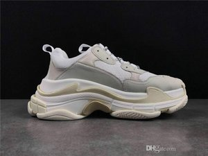 Paris Cristal Triple Bottom S Chaussures Casual Dad Chaussures Triple S Plateforme Chaussures Homme Femmes Vintage Kanye Old Papy Trainer Taille 36-45