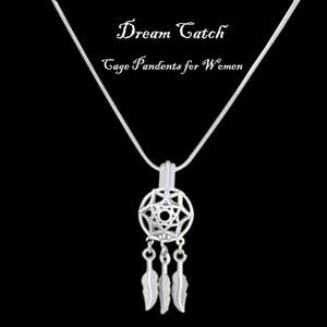 Design speciale Argento Dream catcher Cage Ciondoli Dreamcatcher Beads Pearl Cage Pendant Love Pearl Charms regalo di compleanno P161