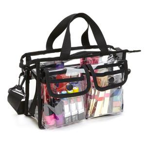 Safebet ماكياج شفاف حقيبة المرأة حقيبة السفر التخزين المنظم شاطئ حقائب الكتف إيفا الإبداعية حقيبة يد الغرض المزدوج