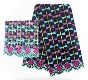 아프리카 레이스 직물 2018 고품질 레이스 CyanNigerian Tissu Africain Guipure 자수 프랑스어 Tulle Lace Fabric