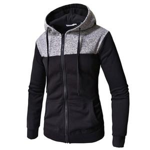 Mens Hoodies Sweatshirts 2018 Neue Herbst Winter Fashion Brand Patchwork Mit Kapuze Reißverschluss Hoodie Cardigan Sweatshirt Männer Hip Hop Hoody