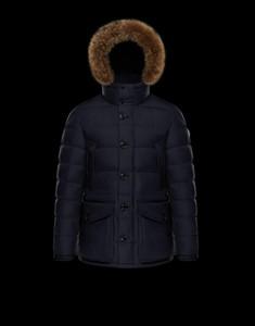 Cappotto invernale / giacca Parka blu scuro del rivestimento del piumino di CLUNY degli uomini di vendita di arrivo del nuovo arrivo del nero di 2018 Francia con trasporto libero in linea