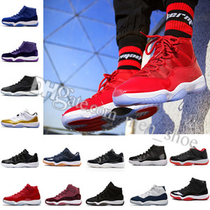 "Numero ""45"" ""23"" Novità 11 Spaces Jams Scarpe da pallacanestro per alta qualità s 11s Athletic Sports S-10 Concord UNC Space 45 Barons Sneakers sportive"