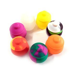 Un soporte para vasos de almacenamiento de petróleo herramienta antiadherente 35 ml Cera Contenedores de silicona caja del silicio de la categoría alimenticia del envase Frascos Para vaporizador de Vape alta calidad