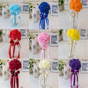 20 colori Bridal Wedding Bouquet Wedding Decoration Artificial Bridesmaid Flower Cheap Bride Holding Flower CPA1560