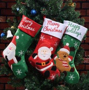 Weihnachtsgeschenk Taschen Stocking Weihnachtsbaum Dekoration Socken Dekorative Taschen Santa Claus Strümpfe Neujahr Produkte