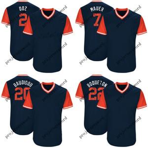 Minnesota Jersey 2 Brian Dozier Doz 20 Eddie Rosario Baudidou 22 Miguel Sano Boqueton 2017 Oyuncuların Hafta Sonu Beyzbol Formaları