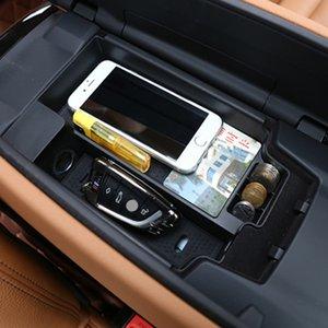 센터 제어 팔걸이 스토리지 박스 장식 커버 트림 BMW 5 시리즈 G30 G38 2018 LHD ABS 자동차 인테리어 액세서리