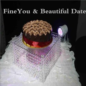 "Свадебный стол Центральным / свадебный акриловый Кристалл торт стенд / 16 ""диаметр 8"" высокий (40x20cm) / 50x50x30cm"