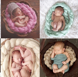 baby blankets Photo blankets photo prop made linen knitted by hand photo cloth