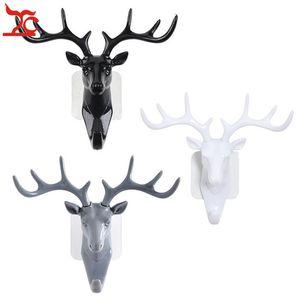 Serin Reçine Hayvan Geyik Stags Head Sticker Askı Takı Kolye Bilezik Duvar Dolabı Tutucu Ekran Kanca Yurtiçi Dekorasyon Raf