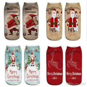 3D Baskı Çorap Noel Baba Desen Tasarım Çorap İfadeler Merry Christmas Çorap Polyester Elyaf Yumuşak Doku 2 4bs ii