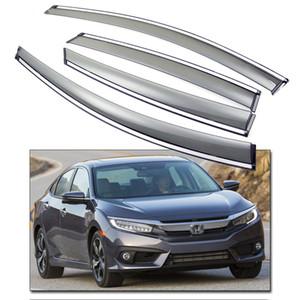 Yeni 4 adet Ön Arka Pencere Visor Deflector Havalandırma Gölge Honda Civic Sedan 2016 için Fit
