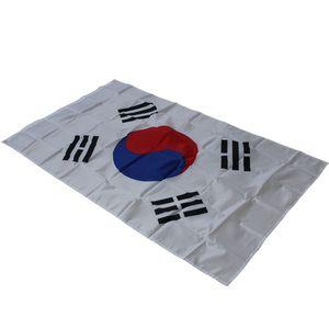 Grande Tamanho 90 * 150 cm Coréia Do Sul Bandeira Nacional Taegeukgi Bandeiras - Poliéster A Bandeira Nacional Coreano 3x5ft Parade / Festival / Decoração de Casa