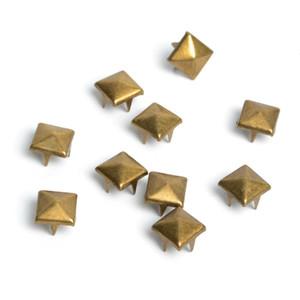 100 pcs 8mm Pirâmide De Bronze Studs Nailheads Rebite Spike Punk Bag Artesanato De Couro Pulseiras Roupas Vestuário Rebite de Costura