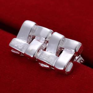 Fine 925 Sterling Silver Earring, XMAS Trendy New Style 925 Silver Tic-tac-toe oreja Butyl para las mujeres joyería de moda Enlace Italia Lovely XE029