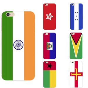 iPhone 6 için Guernsey Guinea Bissau Guyana Haiti Honduras Hong Kong Hindistan Ulusal Bayrak Teması TPU Telefon Kılıfları / 6s / 7 / 7'ler / 8'ler / 11 / pro / max // X