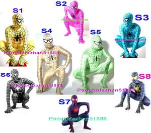 Unisex Örümcek Adam Suit Kıyafet Yeni 8 Renk Lycra Spandex Örümcek Adam Kahraman Suit Catsuit Kostümler Fantezi Superhero Spiderman Kostümleri Unisex 224