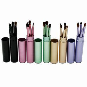 5pcs Profesional Makeup Eyeshadow Brushes Sets Travel Portable Powder Eyeliner Eyebrow Eye Lip Brush Make Up Brushes Tools Kit with Holder