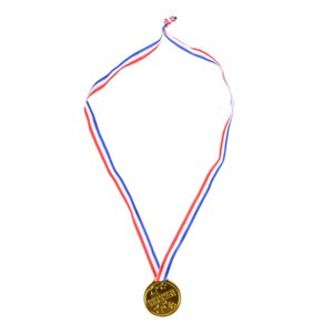 Hot Sale 12pcs Plastic Children Gold Winners Medals Kids Game Sports Prize Awards Toys Party Favor High Quality
