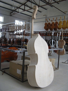 3 4 Upright Double Bass White Unfinished Solid Maple Spruce Wood Hand Made