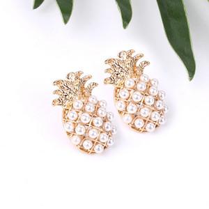 Netter Ananas-Ohrring-Frauen-Mädchen-Perlen-Frucht-Ananas Mode Ohrring Schmuck Accessoires Geschenk für Liebe Freund