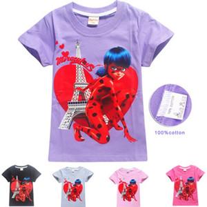 100% coton New Summer Camisetas pour Enfants Garçons Filles Marque T Chemises Enfants Cartoon 3D Imprimé Lady Bug Tee Shirt Enfants Vêtements