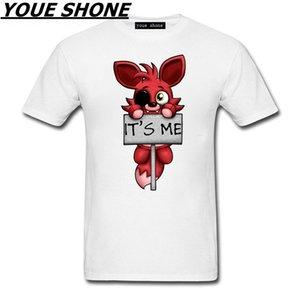 это я Kawaii FNAF плюшевые Foxy мужчины футболка хип-хоп футболка хлопок О-образным вырезом футболка человек дети Марка с коротким рукавом тройник пуловер Т