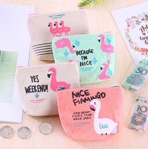 Mini Gifts for Guests Souvenirs Flamingo Coin Purse Birthday Party Canvas Zip Wallet Wedding Present for Guests Back to School