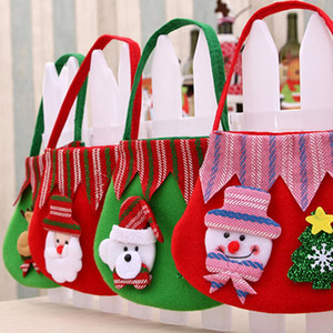 Wedding Santa Bags Claus Bag Hot Gift Candy Chrismas Pouch Handbag Sack Present Kids Christmas Santa Decoration Gift Bag Kajps