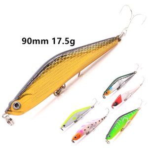 ABS Plastic Lipless BASS Crankbaits Wobbler Fishing lure 9cm 17.5g 3D Eyes Lifelike FISH Pencil Laser bait Hooks