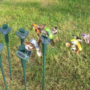 Nuevos colibríes solares, mariposas, juguetes para el jardín, estudiantes ilustrados, juguetes educativos, batería solar y batería.