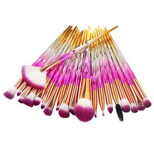 20 Unids / set Pinceles de Maquillaje Set Eye Shadow Liner Corrector de Cejas Blending Beauty Make Up Brush DHL libre BR033