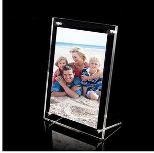 """(GT3157-6inch) 탁상용 6 """"아크릴 액자, 플렉시 유리 포스터 광고 전시, 투명한 명확한 디자인"""