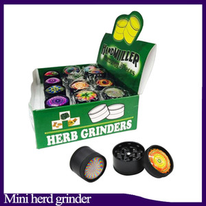 3D mini Muller Herb Grinder Liga de Zinco Triturador De Fumaça Mini Metal Shredder De Tabaco 3 Camadas 30mm Diamter Assorted Cores YW849 0266222