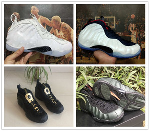 2018 New Penny Hardaway Foam One Nero / Metallic Gold Baskeball Scarpe Uomo PRM Olympic All Star Sequoia White Red Mens Designer Sneakers
