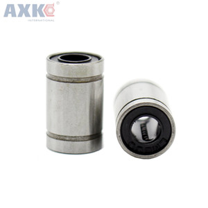 AXK 10pcs / lot LM6UU 6mm 6x12x19mm linéaire roulement à billes Bush Bague 6mmx12mmx19mm Accessoire pour imprimante 3D