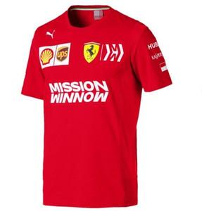 F1 Formule T-shirt Leclerc 2019 T-shirt de costume de course Ferrari encolure ras du cou à manches courtes occasionnels 1