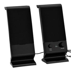 2 Peças USB Combinado Com Fio Computador PC Alto-falante Estéreo Portátil Bass Box Music Player Mini Subwoofer Para Smartphone Portátil
