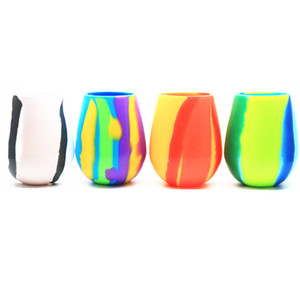 Camouflage Silicone Beer Glass Cups Collapsible Stemless Cup Drinkware Coffee Drinking Mug Wine Tumbler Kitchen Dining Bar Tools HH9-2248